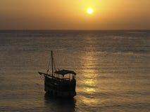 Заход солнца в Африке Стоковое Изображение