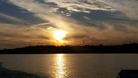 Заход солнца в Алабаме Стоковые Изображения
