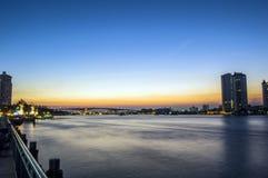 Заход солнца в Бангкоке Таиланде Стоковое Изображение