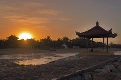 Заход солнца в Бали Стоковые Фото