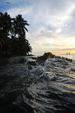 Заход солнца в Белизе стоковое фото rf