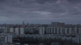 Заход солнца в большом timelapse города акции видеоматериалы