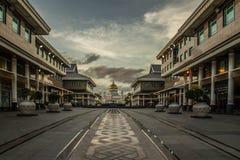 Заход солнца в Брунее Стоковое Изображение