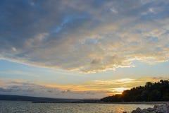 Заход солнца в Варне стоковые фото