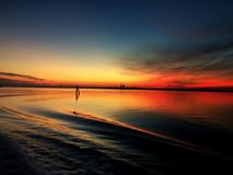 Заход солнца в Венеции стоковая фотография