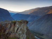 Заход солнца в горах Стоковое Изображение