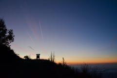 Заход солнца в горах Стоковые Изображения RF