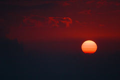 Заход солнца в горах Bucegi Стоковые Изображения RF