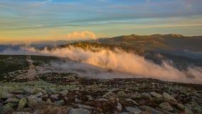 Заход солнца в горе Giants Стоковые Изображения RF