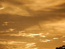 Заход солнца в городе Стоковое Изображение