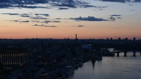 Заход солнца в городе сток-видео