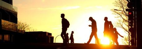 Заход солнца в городе Aucland Стоковая Фотография RF