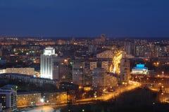 Заход солнца в Екатеринбурге Стоковая Фотография RF