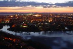 Заход солнца в Екатеринбурге Стоковые Изображения