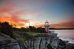 Заход солнца в заливе Уотсона стоковое изображение