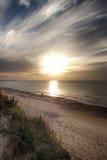 Заход солнца в Израиле Стоковые Фотографии RF