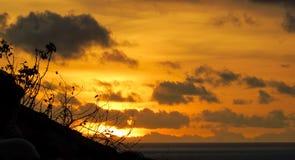 Заход солнца в Индонезии стоковые фото