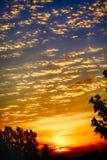 Заход солнца в июне Стоковая Фотография