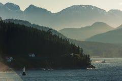 Заход солнца в Канаде Стоковые Изображения RF