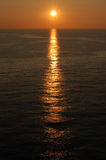 Заход солнца в канале Стоковые Фото