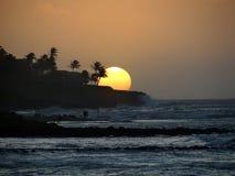 Заход солнца в Кауаи Стоковое фото RF