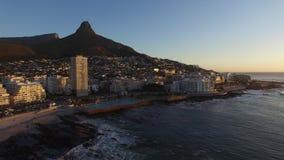 Заход солнца в Кейптауне сток-видео
