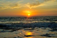 Заход солнца в Кипре Стоковые Фотографии RF