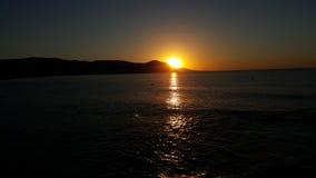 Заход солнца в Кипре стоковое фото