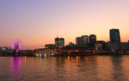 Заход солнца в Кобе Японии Стоковое Изображение RF