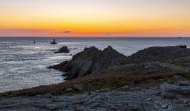 Заход солнца в конце мира Стоковые Фотографии RF