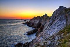 Заход солнца в конце мира Стоковое Изображение RF