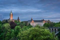 Заход солнца в Люксембурге Стоковые Фото