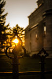 Заход солнца в мае Стоковая Фотография