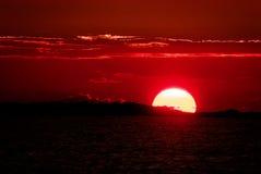 Заход солнца в Мексике Стоковое Фото
