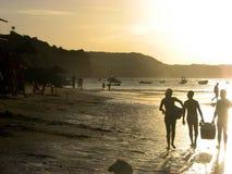 Заход солнца в Натальн-RN побережье, Бразилия Стоковые Изображения