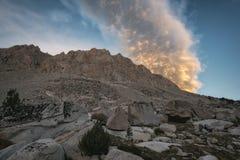 Заход солнца в национальном парке королей Каньона Стоковая Фотография RF