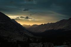 Заход солнца в национальном парке королей Каньона Стоковое Фото