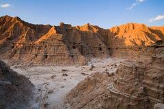Заход солнца в неплодородных почвах Небраски Стоковая Фотография
