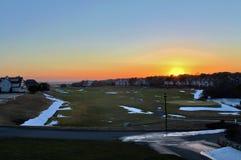 Заход солнца в Новой Англии Стоковое Изображение RF