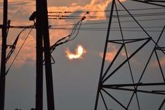 Заход солнца в Нью-Джерси стоковое изображение