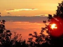 Заход солнца в Нью-Хэмпширский горах Стоковые Изображения
