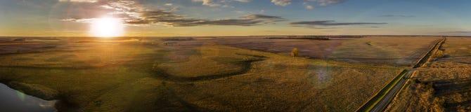 Заход солнца в октябре Стоковые Изображения