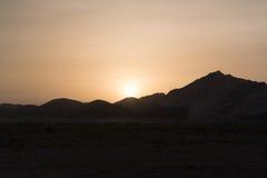 Заход солнца в Омане Стоковая Фотография