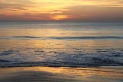 Заход солнца в острове Бали Стоковые Фотографии RF
