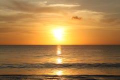 Заход солнца в острове Бали Стоковая Фотография