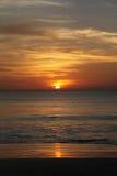 Заход солнца в острове Бали Стоковые Изображения