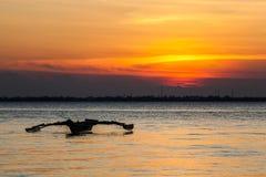 Заход солнца в острове Занзибара Стоковые Изображения