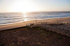 Заход солнца в Португалии Стоковые Фото