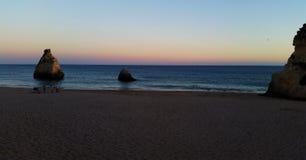 Заход солнца в Португалии Стоковые Изображения RF