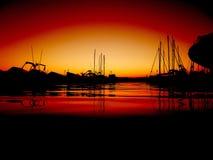 Заход солнца в Провансали Стоковое Фото